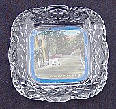 Advertising Glass dish