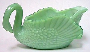 Boyd Green Glass Swan