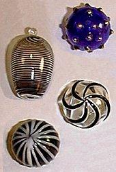 Orplid bimini black glass button